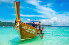 Longtail boat on Andaman Sea,Thailand Royalty Free Stock Photo