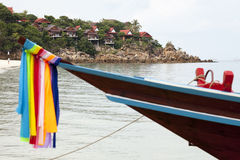 Longtail boat on the beach of Koh Phangan Stock Image