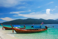 Longtail boat on the beach, Thailand Royalty Free Stock Images