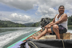 Longtail boat captain, Thailand Stock Photography