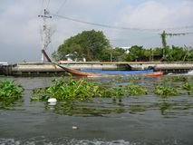 Longtail Boat on the Chao Phraya River. In Bangkok, Thailand in Asia stock photos