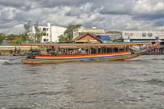 Longtail boat at Chao Praya River in Bangkok, Thailand Stock Images