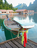 Longtail boat in Chiew Lan Lake Stock Images