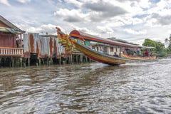 Longtail boat at the clongs in Bangkok, Thailand Royalty Free Stock Images