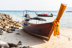Longtail boat detail Royalty Free Stock Photo