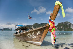 Longtail boat at Koh Phi Phi. Thailand royalty free stock photo
