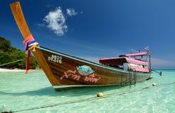 Longtail boat. Koh Rok. Thailand Stock Image