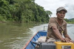 Longtail boat, Laos Stock Photos