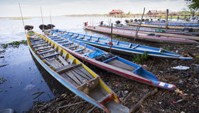 Longtail boat on a local lagoon at thale noi Phatthalung provinc. E Thailand Stock Images