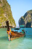 Longtail boat in Maya Bay Royalty Free Stock Images
