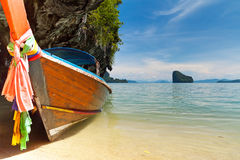 Longtail boat in the Phang Nga Bay Royalty Free Stock Photos