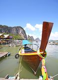 Longtail boat  phangnga bay Stock Photography