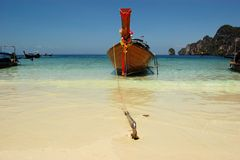 Longtail boat, Phi-Phi island,  Thailand Royalty Free Stock Photography