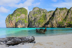Longtail Boat in Phi-Phi Stock Photo