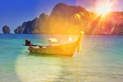 Longtail Boat in Phuket. Boat in Thailand Royalty Free Stock Image