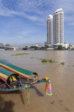 Longtail Boat at the River Chao Phraya in Bangkok Stock Photos