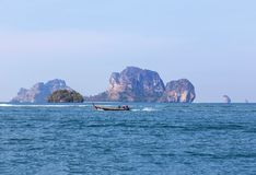 Longtail boat sailing on the andaman sea Royalty Free Stock Images