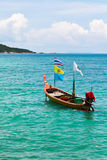 Longtail Boat at  sea Royalty Free Stock Photo