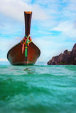 Longtail boat on the sea tropical beach Royalty Free Stock Photos