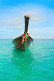 Longtail boat on the sea tropical beach Royalty Free Stock Photography