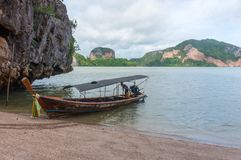 Longtail boat Stock Images