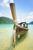 Longtail boat in the south of Thailand Royalty Free Stock Photos