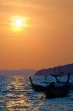 Three boats on sea Stock Photography