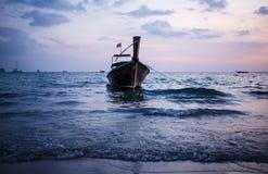 Longtail boat on sunrise. Stock Image