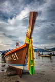 Longtail boat sunset Stock Images
