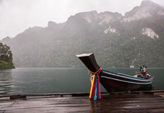 Longtail boat in Thailand. Traditional longtail boat in Thailand Royalty Free Stock Images