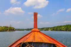 Longtail boat in Thailand. Longtail boats docked in Krabi Thailand Royalty Free Stock Photography