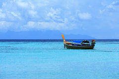 A longtail boat in Thailand. A longtail boat at Koh Lipe island, Thailand Stock Photos