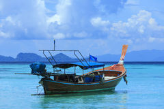 A longtail boat in Thailand. A longtail boat at Koh Lipe island, Thailand Royalty Free Stock Photography