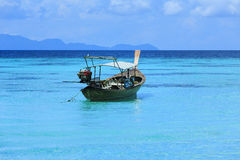 A longtail boat in Thailand. A longtail boat at Koh Lipe island, Thailand Stock Photo