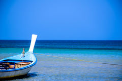 Longtail boat in Thailand. Longtail boat on shallow water on Phuket Royalty Free Stock Image