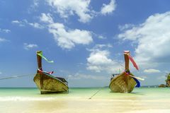 Longtail boat of Thailand Royalty Free Stock Images