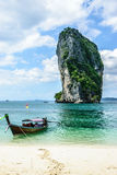 Longtail boat. Transportation in poda island in ndaman sea in krabi thailand Stock Photos