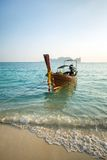 Longtail boat at the tropical beach of Poda island Stock Photography