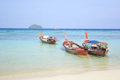 Longtail boat for visit beautiful beach Royalty Free Stock Images