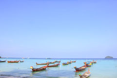 Longtail boat for visit beautiful beach Stock Image