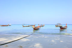 Longtail boat for visit beautiful beach Stock Photography