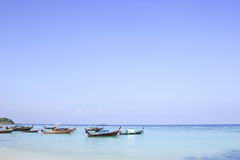 Longtail boat for visit beautiful beach Royalty Free Stock Image