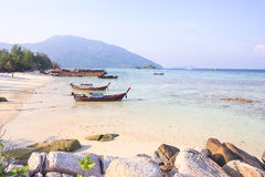 Longtail boat for visit beautiful beach of Koh Lipe Stock Image