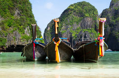 Longtail boats Royalty Free Stock Photo