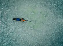 Longtail boats from the air, paradise island , crystal clear water, amazing scenery, on fyre. stock images
