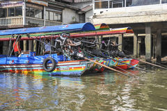 Longtail boats in Bangkok, Thailand Stock Photography