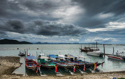Longtail boats in Ko Samui, Thailand Royalty Free Stock Photography