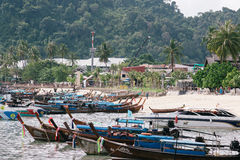 Longtail boats on Koh Phi Phi island, Thailand Stock Photography