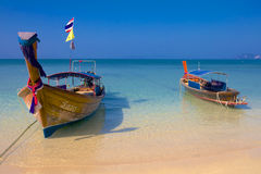Longtail boats in Krabi Thailand Royalty Free Stock Photo