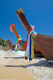 Longtail boats Stock Image